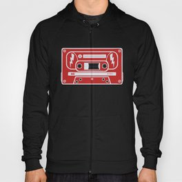 Retro Style Music Cassette in Red Hoody