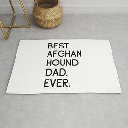 Best Afghan Hound Dad Ever Rug