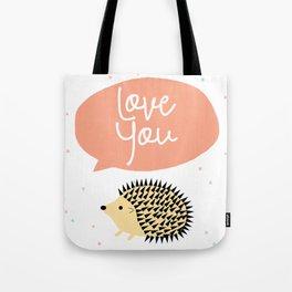 Hedgegog love Tote Bag