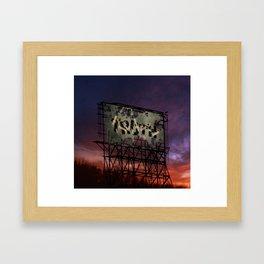 Trump Billboard Outside Blue Wave City .2 Framed Art Print