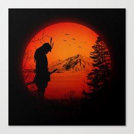 My Love Japan / Samurai warrior Canvas Print