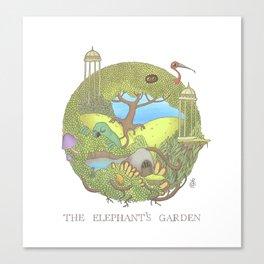The Elephant's Garden - Version 1 Canvas Print