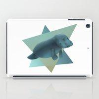 manatee iPad Cases featuring Manatee #2 by Jamie Bechtel