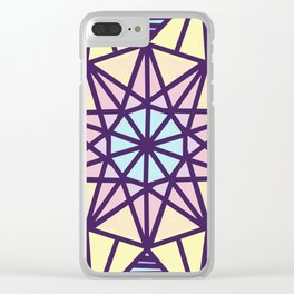 Stained Glass Sunrise Clear iPhone Case