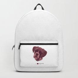 I love my dog - Boxer, pink Backpack