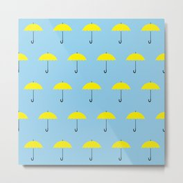 HIMYM Yellow Umbrella Metal Print