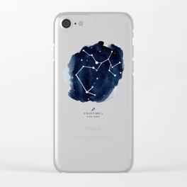 Zodiac Star Constellation - Sagittarius Clear iPhone Case