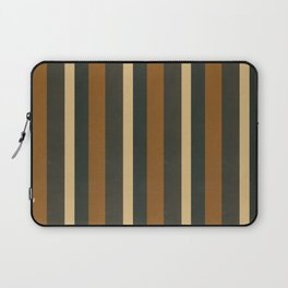 Classic Brown and Beige Stripes  Laptop Sleeve