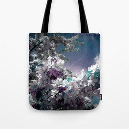 Flowers Purple & Teal Tote Bag