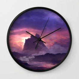 the mystic mountain Wall Clock