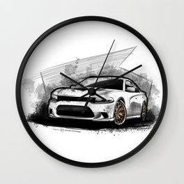 Charger SRt Hellcat Wall Clock