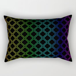 Rainbow Squarity Rectangular Pillow