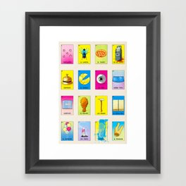 BB Loteria Cards Framed Art Print