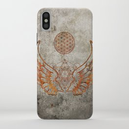 Angel Wings Metatron Flower of Life iPhone Case