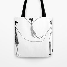 Flappers playing jump rope Tote Bag