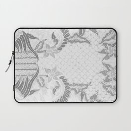 Bali Batik white grey Laptop Sleeve