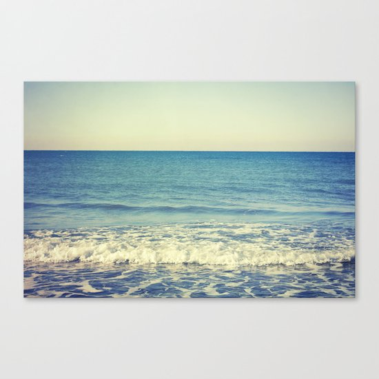 in the arms of the Ocean Canvas Print