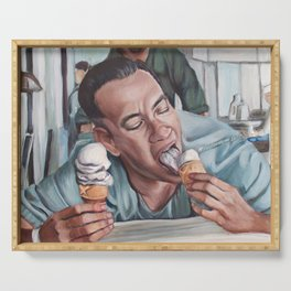 Forrest Gump eats Ice Cream Serving Tray