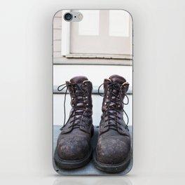 Work Boots iPhone Skin