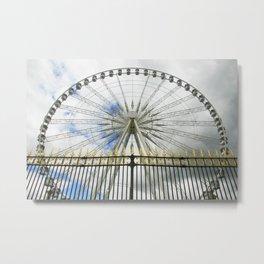 Paris Wheel Metal Print