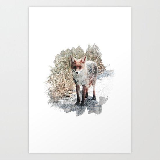 How I met a Fox Art Print