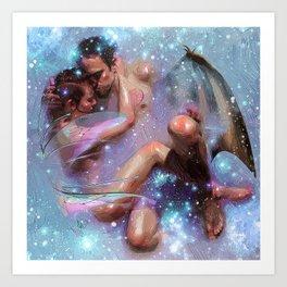 nude love Art Print