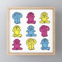 Monkey, monkey, monkey Framed Mini Art Print
