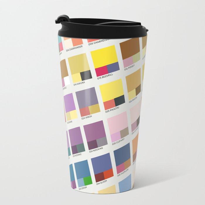 Poke-Pantone 1 (Kanto Region) Travel Mug