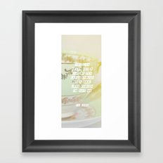 a cup of tea large enough Framed Art Print