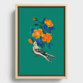 Autumnal Rose Framed Canvas