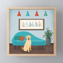 A Labrador Retriever Makes A House A Home Framed Mini Art Print