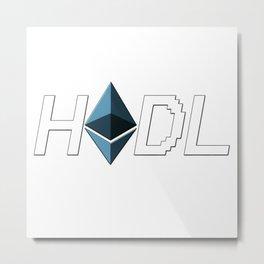 HODL Ethereum Metal Print