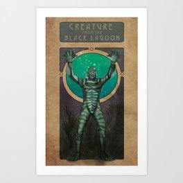 Creature From the Black Lagoon Nouveau Kunstdrucke