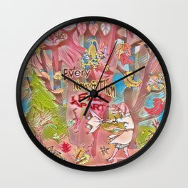 Seasons Pink Every Now & Then I Fall Apart Wall Clock