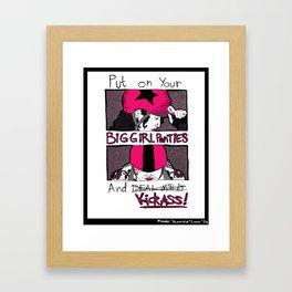 Roller Derby  Framed Art Print
