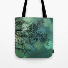 Tree Magic in Teal Tote Bag