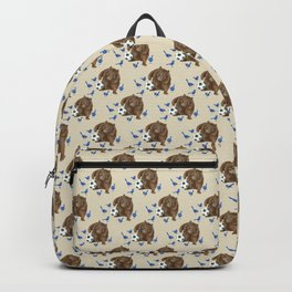 Blue wrens Wombat Football Backpack