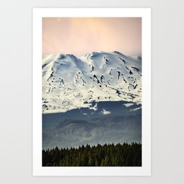 Mount St. Helens at Sunset Art Print