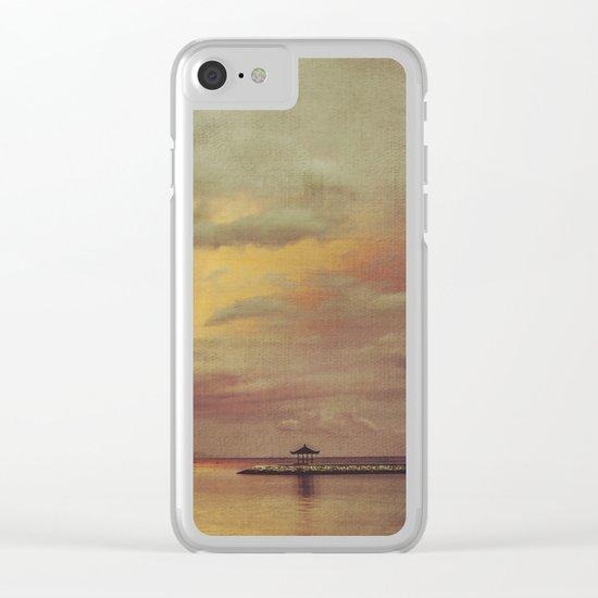 Walk Alone Clear iPhone Case