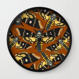 Death Moth Wall Clock