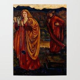 "Edward Burne-Jones ""Merlin and Nimue from Le Morte d'Arthur"" Poster"