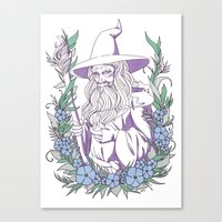 gandalf Canvas Prints featuring Gandalf by heymonster