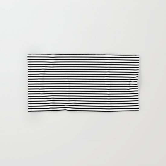 White Black Stripe Minimalist Hand & Bath Towel