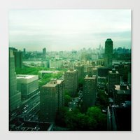 brooklyn Canvas Prints featuring Brooklyn by Claire Beaufort