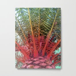 Pineapple Palm Metal Print