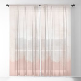 Cotton candy in beige pink Sheer Curtain