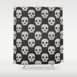 Knitted skull pattern Shower Curtain