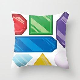 Gem Collection Throw Pillow