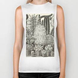 Cacti And Succulents Biker Tank
