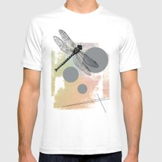 Dragonfly (variant) White Mens Fitted Tee MEDIUM